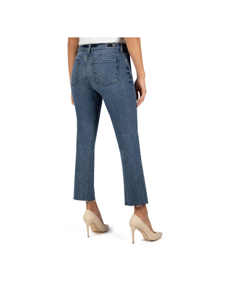 Kut from the Kloth Kelsey High Rise Ankle Flare in Mastermind Wash by Kut from the Kloth