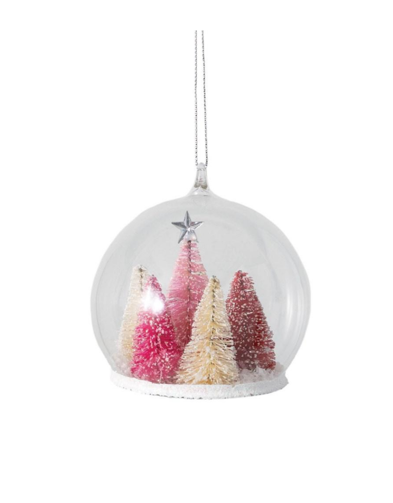 Pink Trees in Globe Ornament