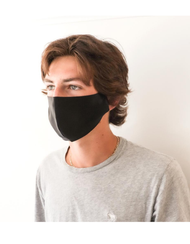 lemonwood Silk Face Mask  Black Large