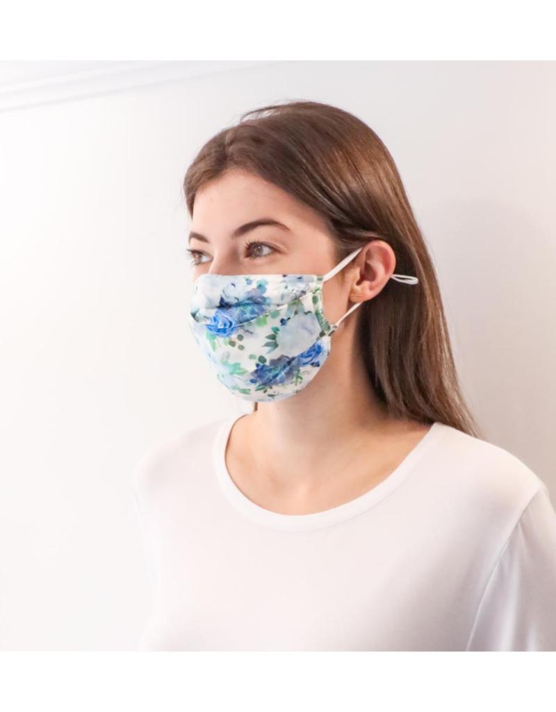 lemonwood Silk Face Mask Blue Garden