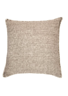 """Linen Stone Wash Euro Pillow in Grey 25"""""""