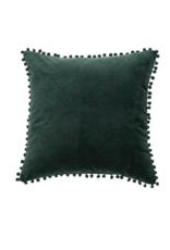 Dark Green Velvet Pillow