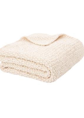 Chunky Natural Knit Throw