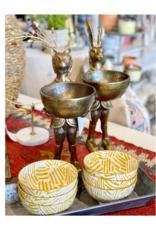 Brass Fox & Dish Stand