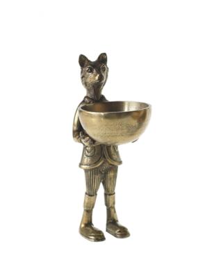 Hofland Brass Fox & Dish Stand