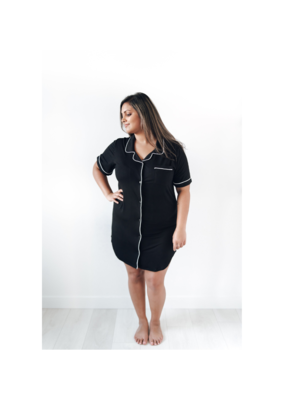 riot theory Harlow Nightshirt in Black by Riot Theory