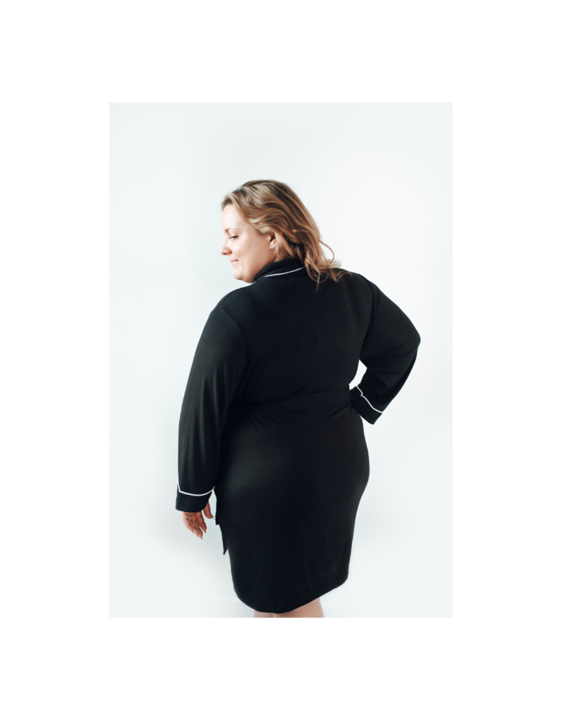 riot theory Parker Robe in Black by Riot Theory