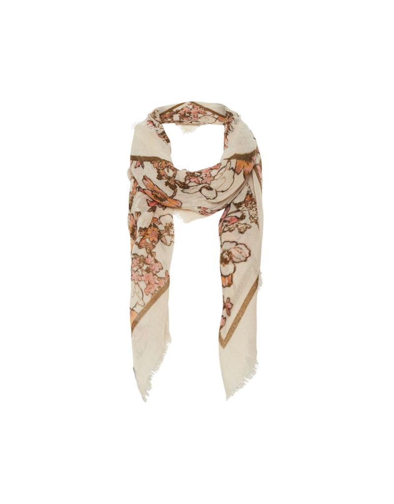 Part Two Elfida Scarf in Flora Parchment Print by Part Two