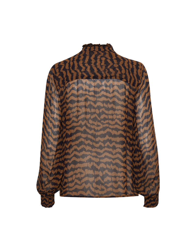 Part Two Esin Shirt in Ikat Chocolate Print by Part Two