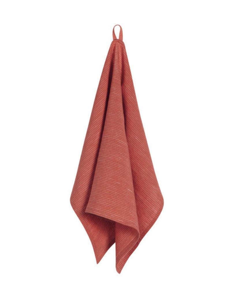 Linen Teatowel Heirloom Clay
