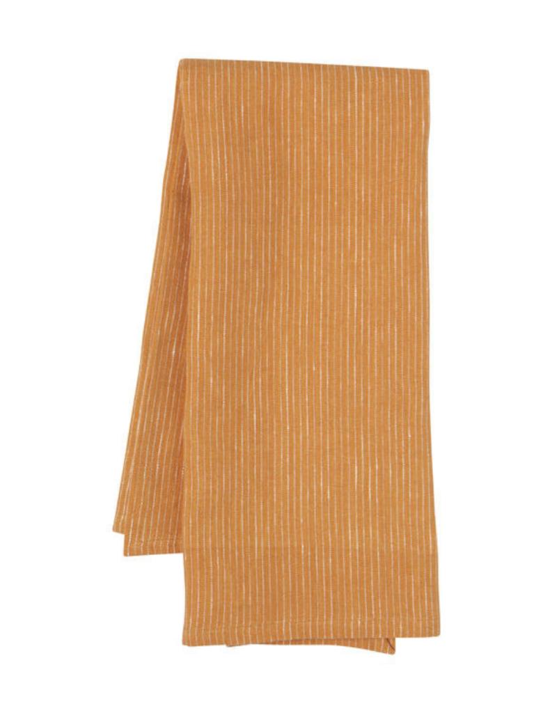 Linen Tea Towel Heirloom Ochre