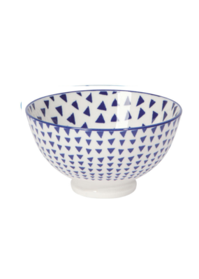 "4"" Blue Triangles Bowl"