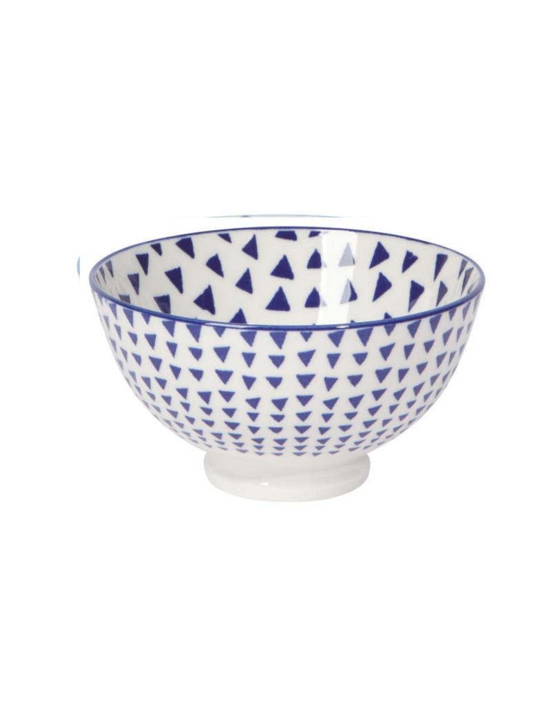 "4"" Blue Triangles Bowl"