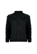 Textured Sweater in Black by EsQualo