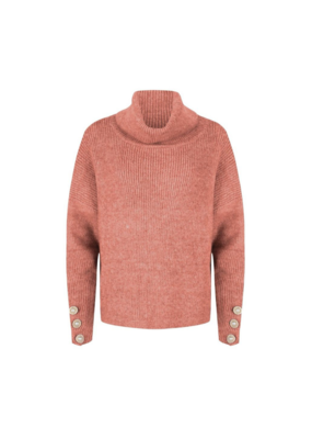 Turtleneck Sweater in Blush by EsQualo