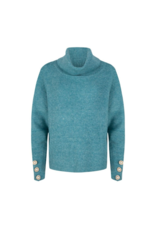 Turtleneck Sweater in Teal by EsQualo