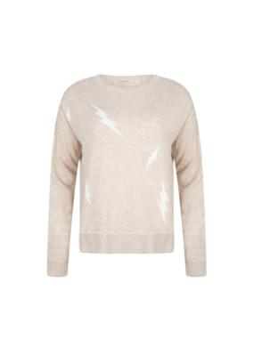 Lightning Sweater in Beige by EsQualo