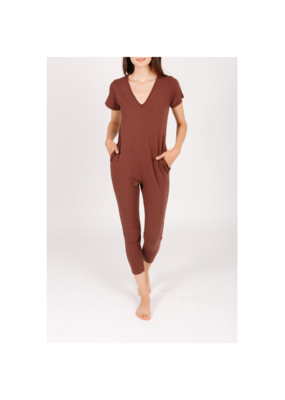 Smash + Tess Sunday Romper in Classic Cocoa by Smash + Tess