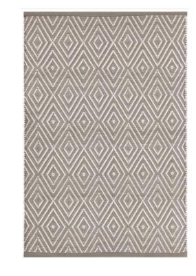Dash & Albert Dash & Albert Indoor/Outdoor Diamond Rug in Fieldstone Ivory
