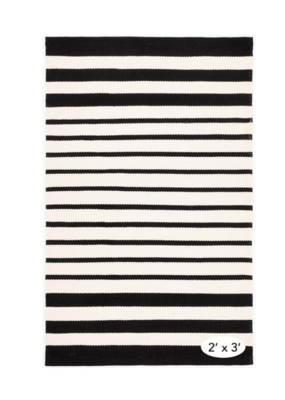 Dash & Albert Dash & Albert Indoor/Outdoor Port Stripe Black