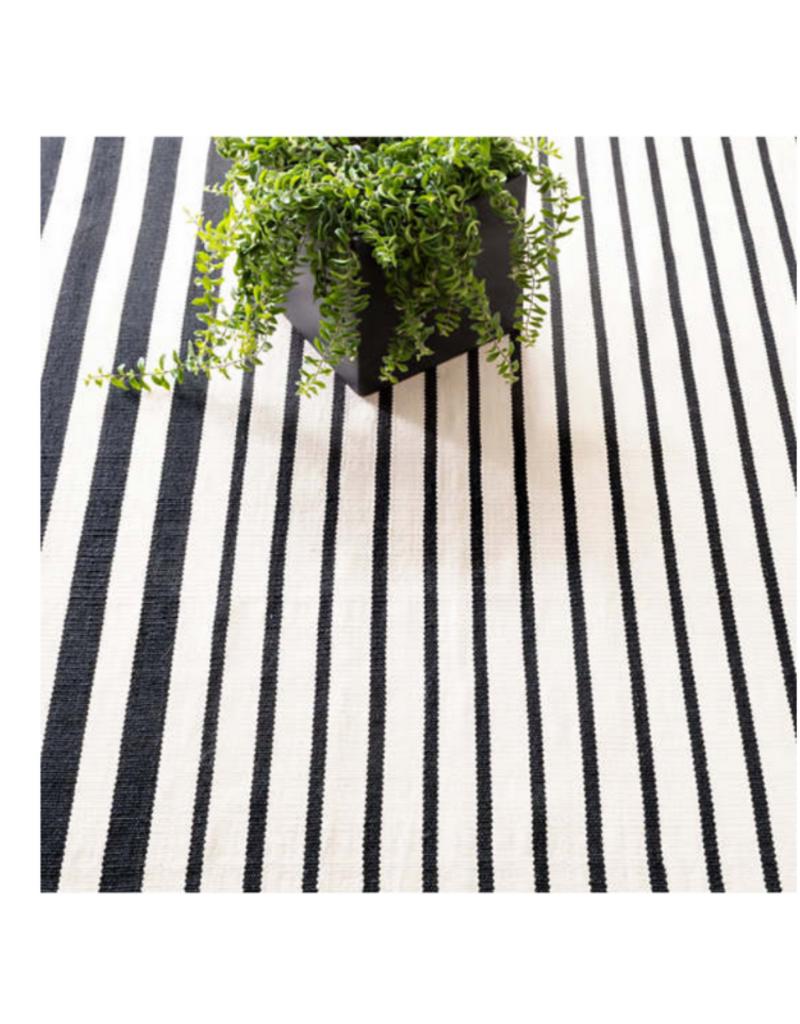 Dash & Albert Dash & Albert Indoor/Outdoor Port Stripe Black