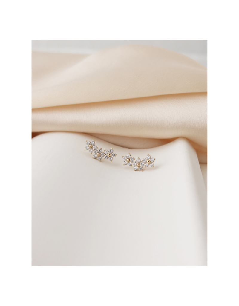 Lover's Tempo Lover's Tempo Blossom Climber Earrings Gold