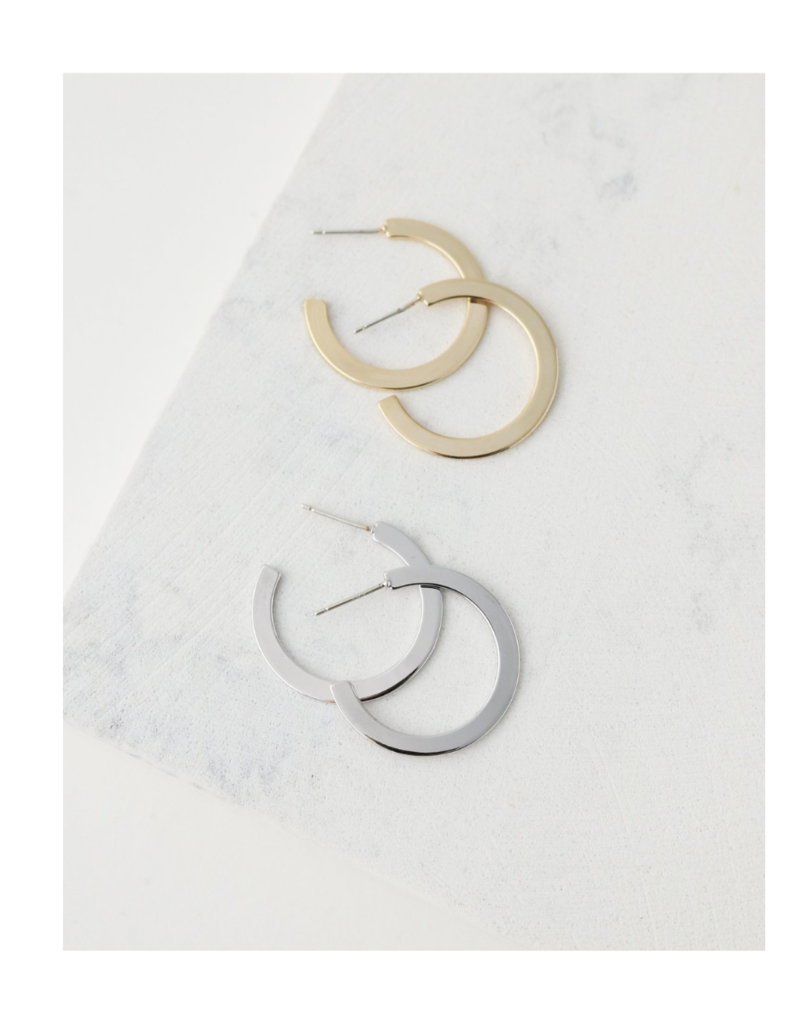 Lover's Tempo Lover's Tempo Gloria Large Hoop Earrings Gold