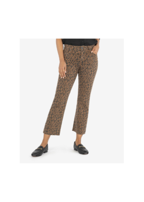 kut Kelsey High Rise Ankle Flare Mocha & Black Print by Kut from the Kloth