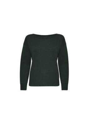 ICHI Alpa Sweater in Dark Green by ICHI