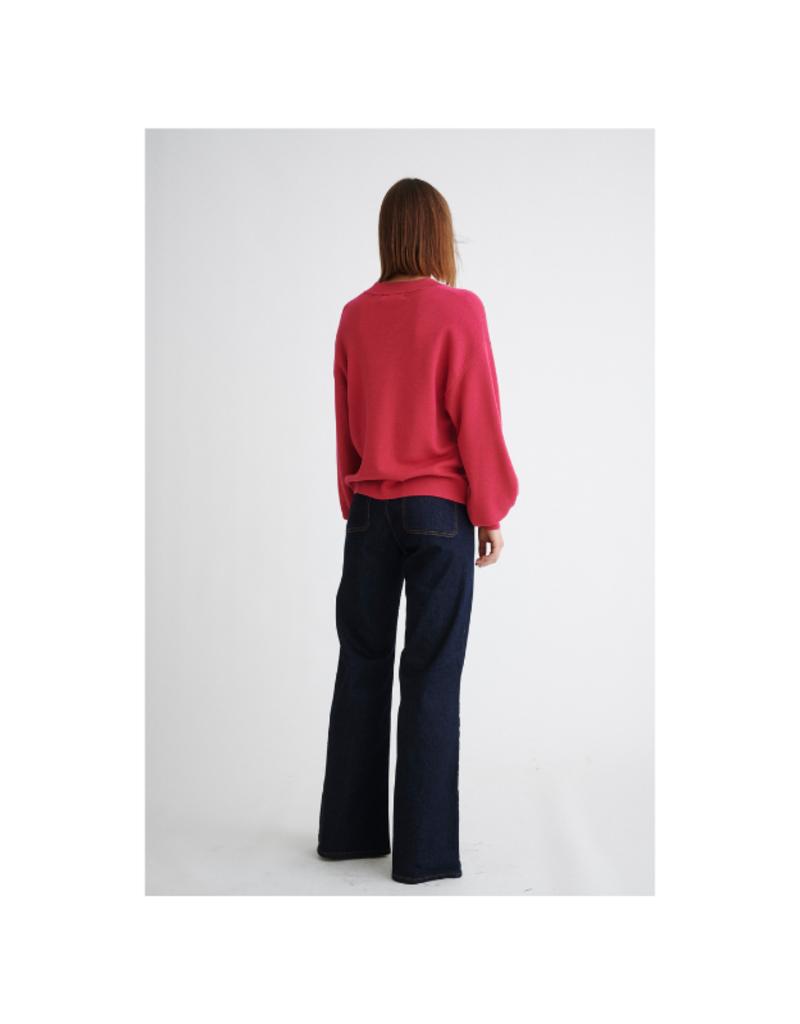 InWear Wanetta V-Neck Sweater in Pink Love by InWear