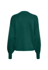 InWear Wanetta V-Neck Sweater in Warm Green by InWear
