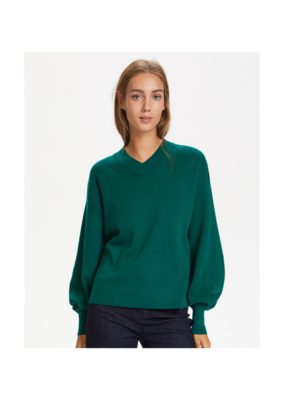 InWear Wanetta V-Neck Sweater in Warm Green by InWear