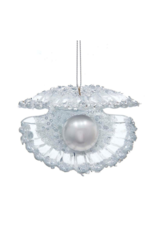 Silver Shell with Pearl Ornament by Kurt Adler
