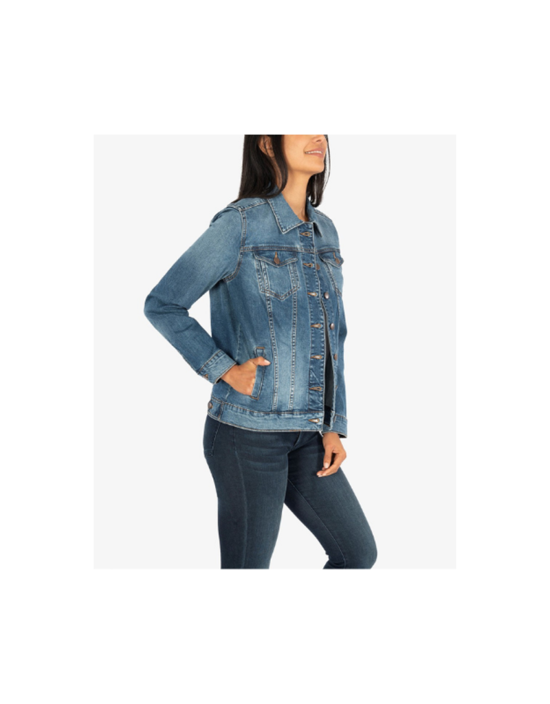 Kut from the Kloth Emma Boyfriend Jacket in Bromeliad Wash by Kut from the Kloth
