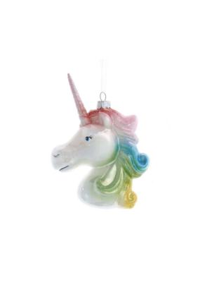 Glass Unicorn Head Pastel Ornament by Kurt Adler