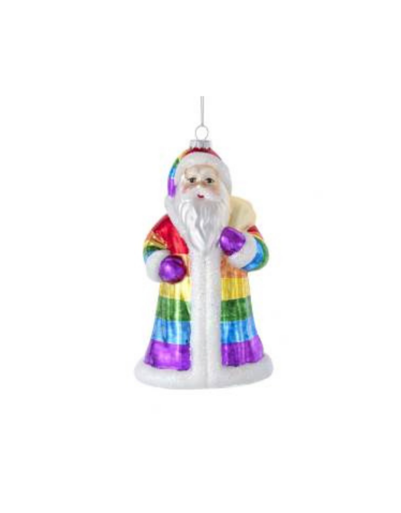 Glass Santa Rainbow Colours Ornament by Kurt Adler