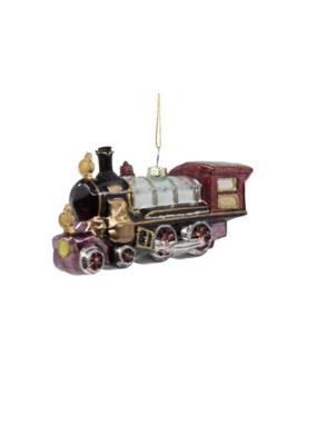 Glass Multicolour Train Ornament by Kurt Adler