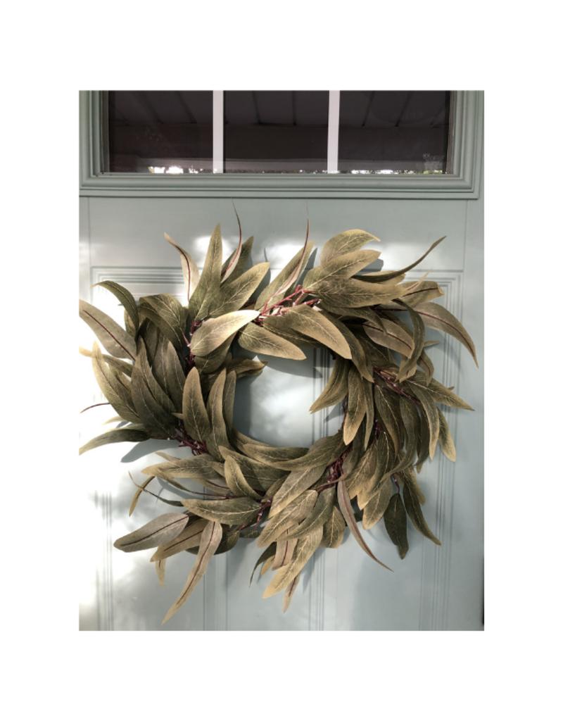 "stargazer originals Eucalyptus Leaf Wreath 22"""