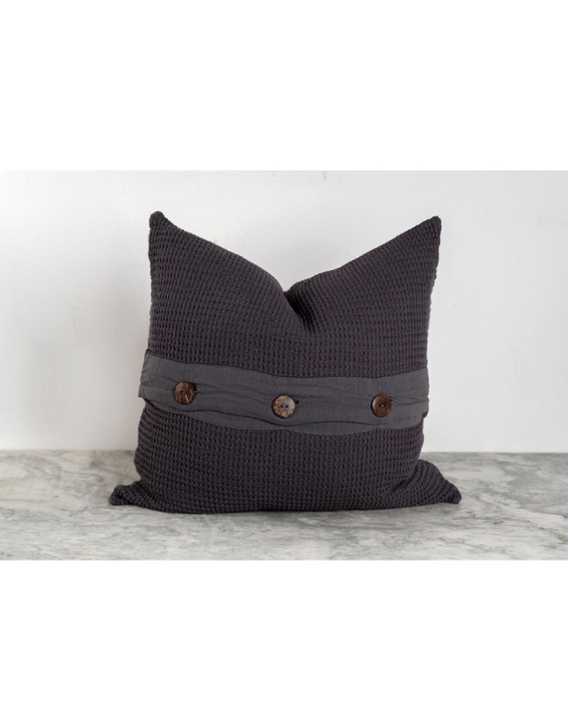 Wave Pillow Charcoal
