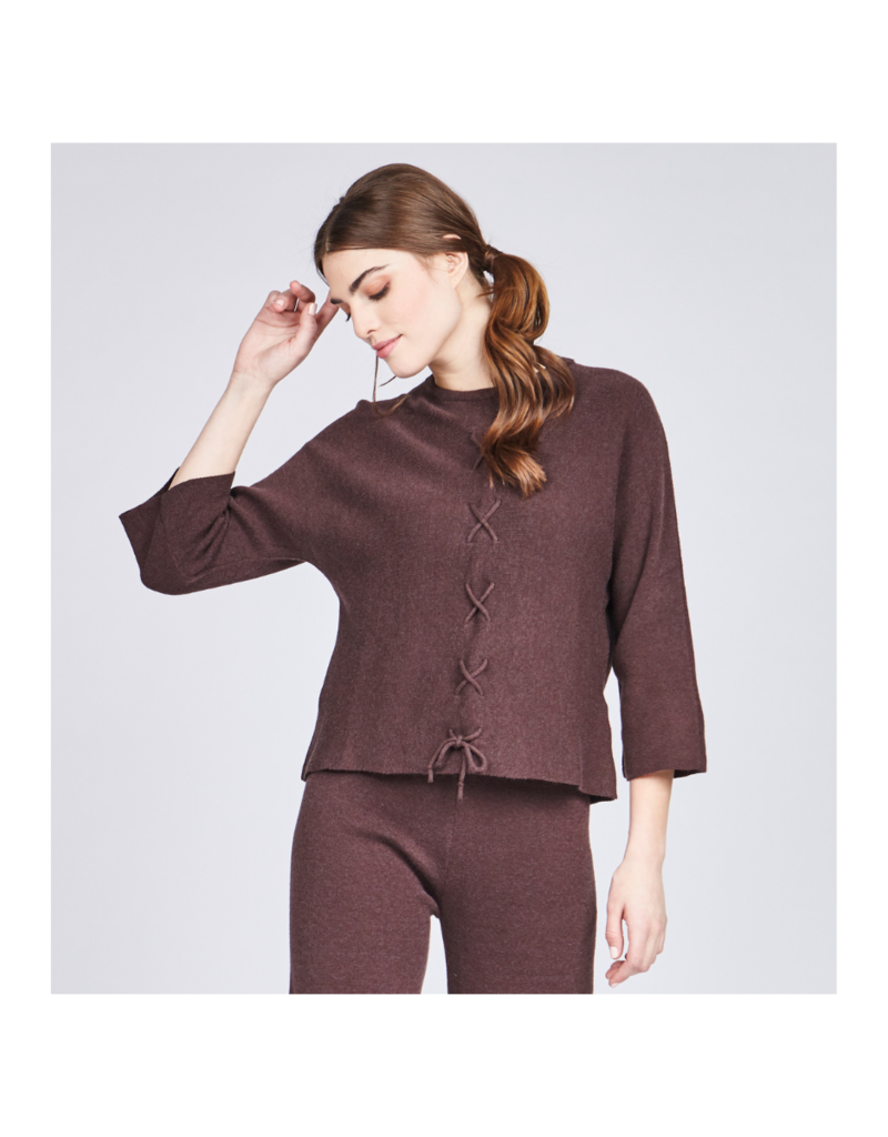 pistache Laced Front Loose Sweater by Pistache