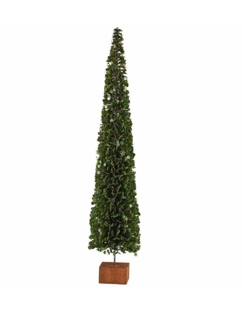 Faux Boxwood Tree On Block