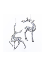 Silver Deer Ornament by Kurt Adler - 2 Assorted Styles