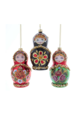 Noble Gems Russian Doll Ornament by Kurt Adler