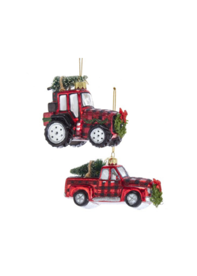 Noble Gems Plaid Truck or Trailer Ornament by Kurt Adler