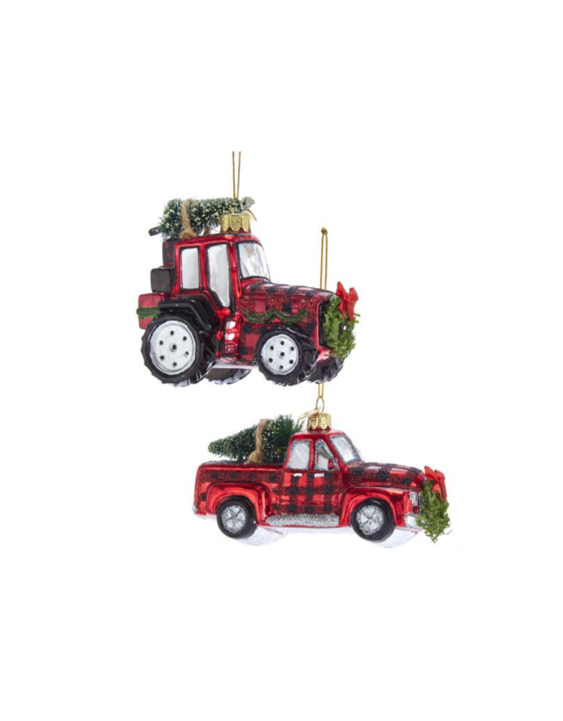 Noble Gems Plaid Truck or Trailer Ornament by Kurt Adler