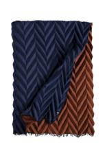 Fraas Herringbone Plisse Royal Scarf