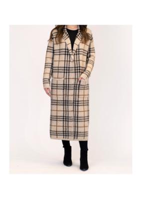 Lyla & Luxe Jimmi Coat in Plaid Camel by Lyla + Luxe