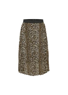 Soaked in Luxury Eteri Skirt in Beige Leopard by Soaked in Luxury