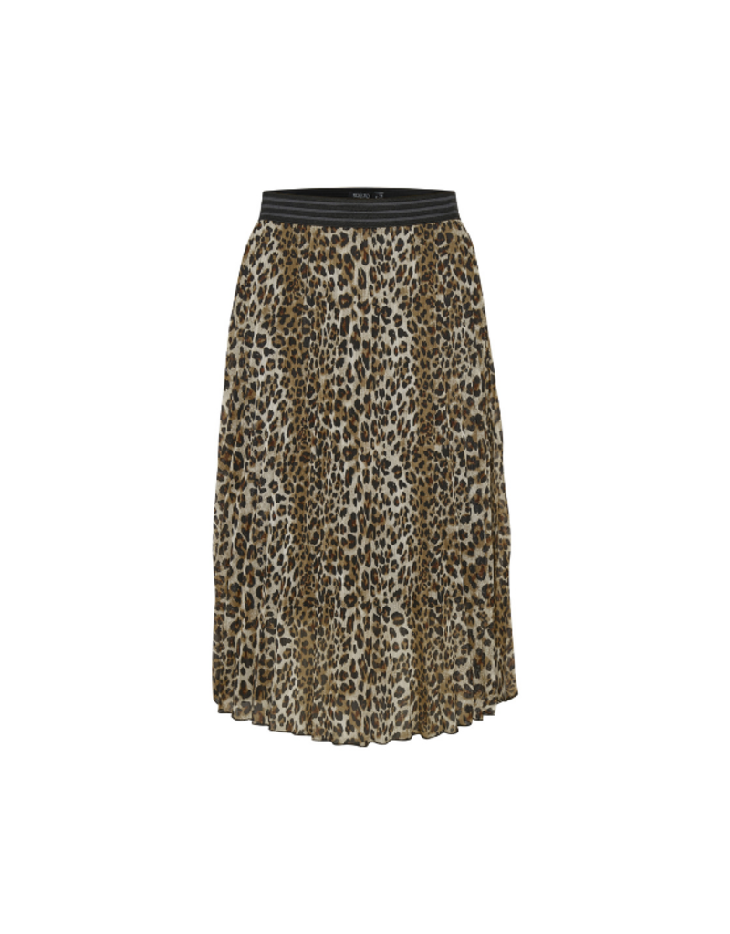 Soaked in Luxury Eteri Skirt in Beige Leopard by Soaked in Luxury