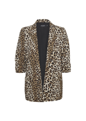 Soaked in Luxury Shirley Blazer in Beige Leopard by Soaked in Luxury